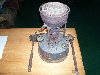 Antique Clayton & Lambert Gas Plumbers Solder Smelting Pot Crucible Lead - Usa photo