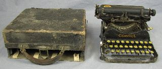 Antique Corona Portable Typewriter With Case/box photo