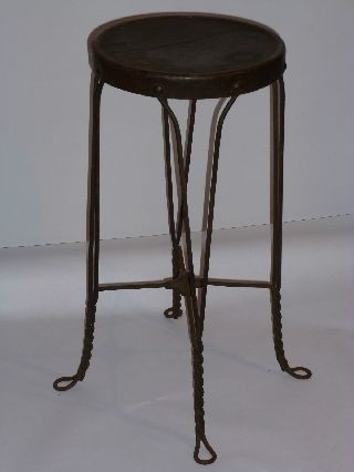 Vintage 1920s - 30s Soda Fountain/ice Cream Parlor Stool Twised Wire Wood Seat photo