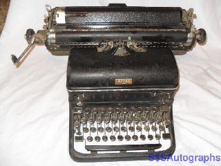 Rare Early Vintage Antique 1949 Royal Kmg Model Professional Black Typewriter photo