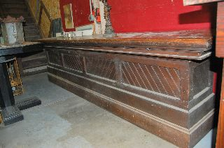 Antique General Store Counter Finish Great Front Bar photo
