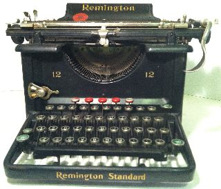 Antique Remington Typewriter ~ Number 12 ~ With Cover photo