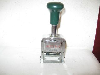 Antique Archer Auto - Number Numbering Machine photo