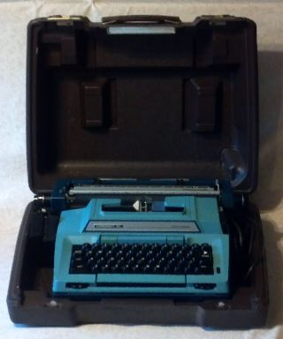 Vintage Smith - Corona Scm Blue Coronet Xl Script Electric Typewriter (working) photo