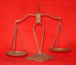Vintage 1900 ' S Antique Bronze Scale Balance Justice