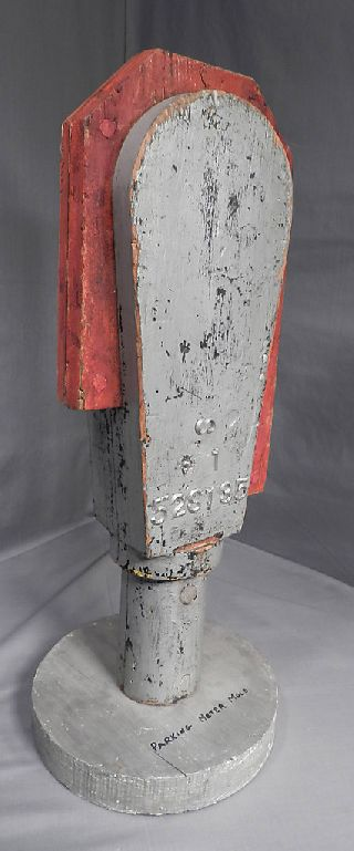 Vintage Abstract Modern Sculpture Mid Century Industrial Mold Parking Meter Bust photo