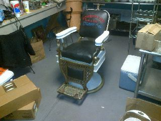 Vintage Koch Barber Chair Rare Ionic Base Works On Sale Now $500 Off Buy Now photo