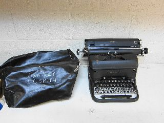 Vintage Smith Corona - Speed No 12 Typewriter W/ Dust Cover photo