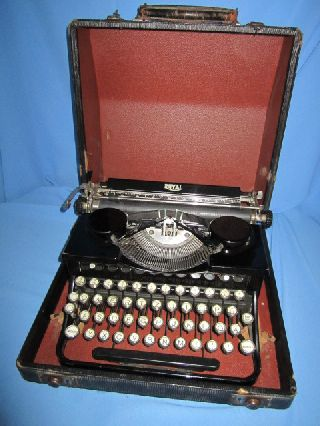 Antique 1934 Royal Model O Portable Vintage Typewriter Made In Usa photo