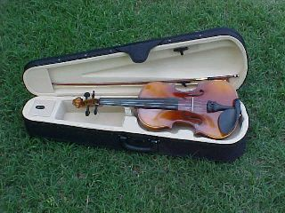 New Adult Size Stradivarius Model Flamed Full Size Violin/fiddle - German photo