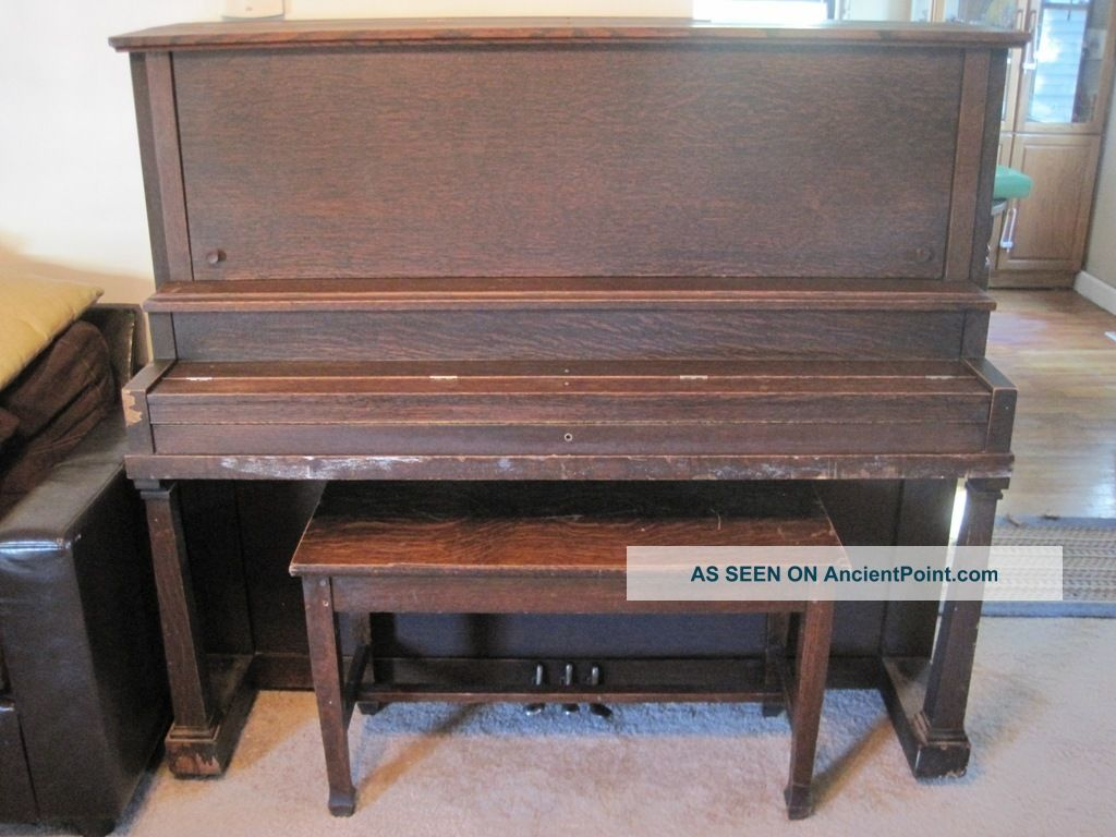 Antique W.  W.  Kimball Co.  Upright Piano,  Early 1900s,  Patent Sep.  24,  1895 Keyboard photo