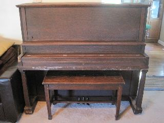 Antique W.  W.  Kimball Co.  Upright Piano,  Early 1900s,  Patent Sep.  24,  1895 photo
