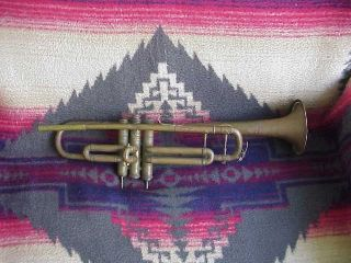 Antique Lafayette Couesnon Trumpet,  Made In France,  25451, , photo