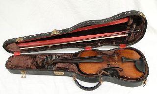 Antique Josef Guarnerius Violin Cremonae 1755 W/hsc Extra Stings photo