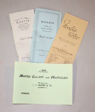 4 Martin Guitar Catalog Reprint Pack Mandolin Ukulele photo