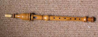 Rare Boxwood Flute Recorder - London 1860 photo