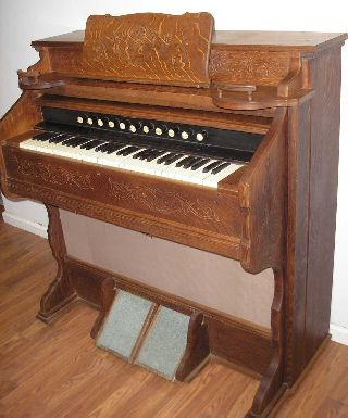 Working Solid Oak Turn Of The Century Estey Organ ~ Chicago photo