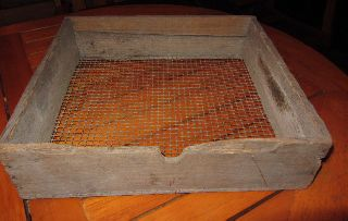Antique Rustic Wood Sifter Shaker Rack Found In 19th Century Barn Primitive photo