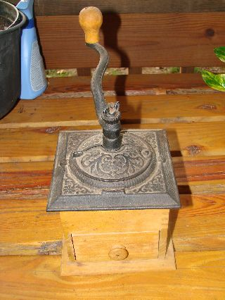 Antique Coffee Grinder Not Sure Of Age,  But Old photo