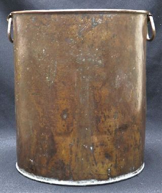 Antique Tall Copper Pot,  Great Waste Basket 13.  5