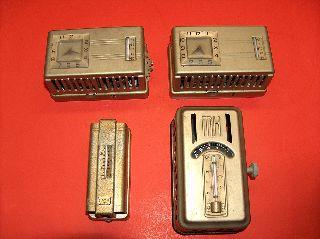 4 Old Vtg Minneapolis - Honeywell Heat Regulator Thermostat Parts Or Repair photo