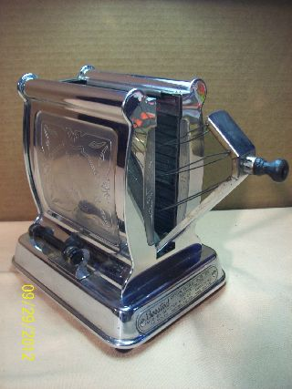 1930 Era~bersted Model 79 Chrome Plated Electric Tipper Toaster~art Deco~exelent photo