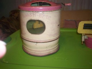 Toy Doll Clothes Agitator Washer With Wringer And Rinse Tub Built By Buffalo Toy photo