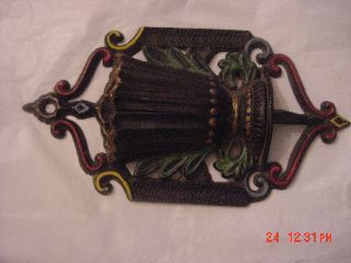 Wilton Cast Iron Urn Wall Pocket Match Safe Holder With 2 Strike Pads photo