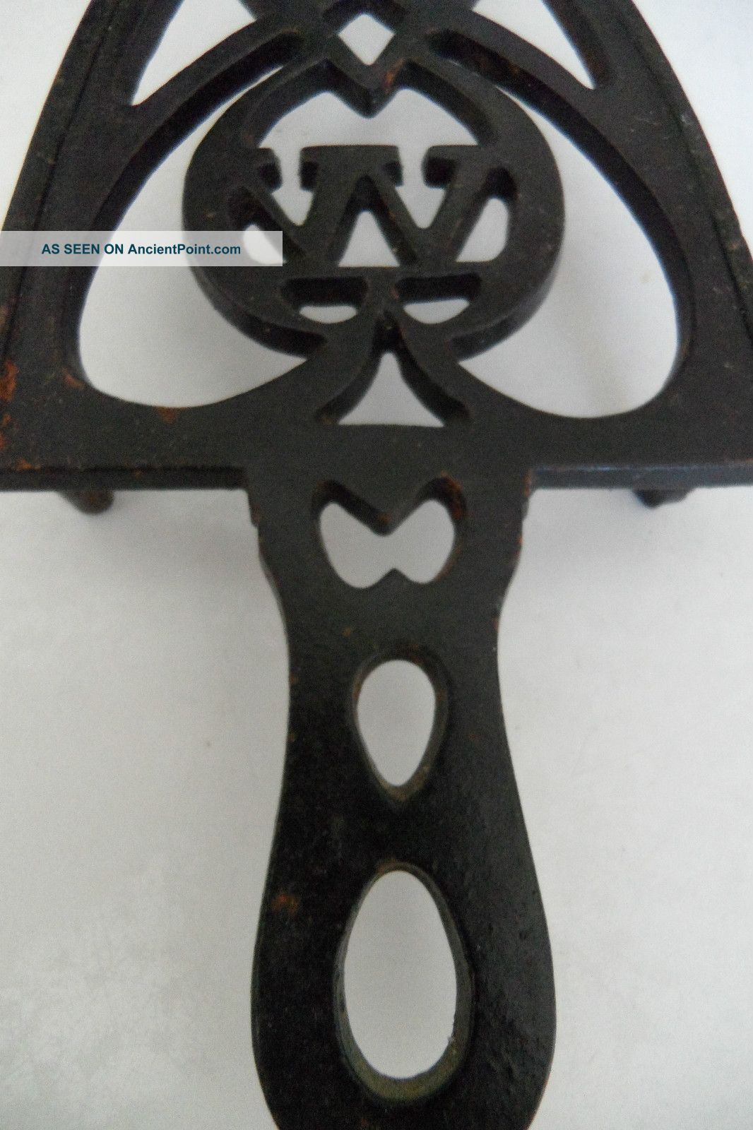 Cast Iron Trivet With W And Heart Trivets photo