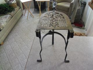 Antique Iron And Brass Hearth Trivet photo