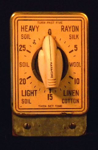Antique Laundry Timer Art Deco Style 1920s photo