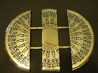 English Hallmarked 4 Footed Trivet - 3 Sections 10