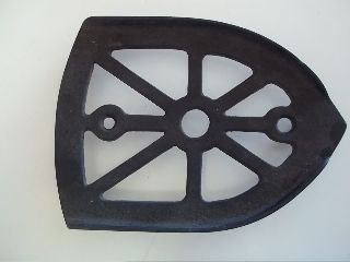 Antique Cast Iron Trivet Sad Iron Trivet 6x4.  25