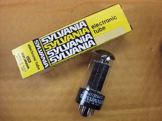 Vtg Sylvania Vacuum Electron 6w6gt/6dg5gt Ham Radio Cb Amp Phono Tube Usa ~nos~ photo