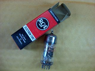 Vtg Rca Electron Vacuum 6au8a Ham Radio Tv Cb Amp Phono Tube Made In Usa ~nos~ photo