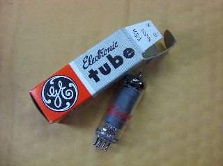 Vtg Ge Vacuum Electron Tube 5aq5 Ham Radio Tv Cb Amp Phono Made In Usa ~nos~ photo