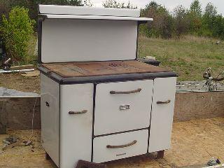 Upu Charter Oak Wood Burning Cook Stove Vintage Antique Cast Iron Xheavy photo