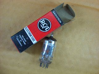 Vtg Rca Electron Vacuum 6jw8 / Ef802 Ham Radio Tv Cb Amp Phono Tube Holland ~nos photo