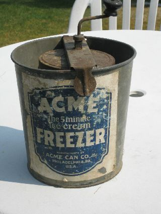 Antique Acme The 5 Minute Ice Cream Freezer Acme Can Co Inc.  Philadelphina Pa photo