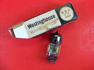 Vtg Westinghouse Electron Vacuum 6gx7 Ham Radio Tv Cb Amp Phono Tube Usa Nos photo