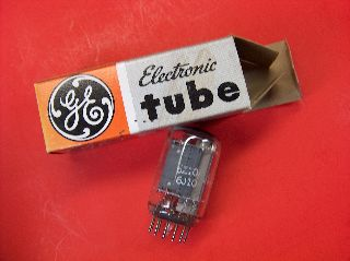 Vtg Ge Electron Vacuum 6z10 / 6j10 Ham Radio Tv Cb Amp Phono Tube Usa Made ~nos~ photo