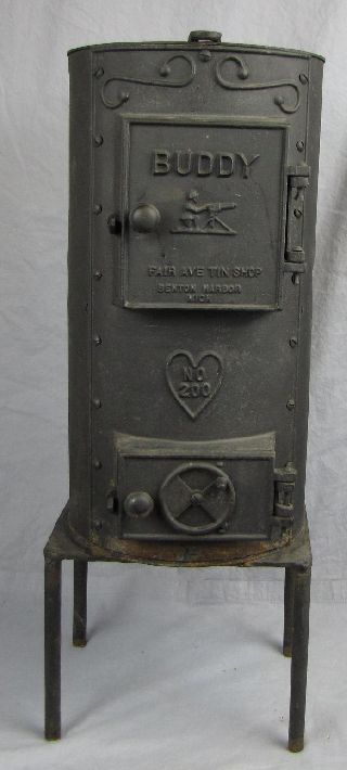 Buddy Coal Stove No.  200 With Machine Gun On The Front~before 1938 No Pat Date photo