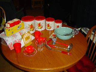 Vintage Kitchen Set - 26 Piece - Gift For Decorating,  Etc photo