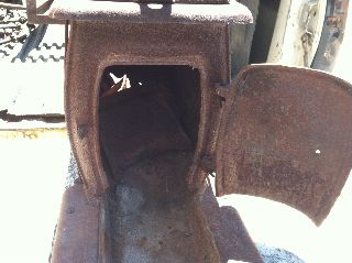 Antique Wood Stove Cast Iron Box Wood Stove photo