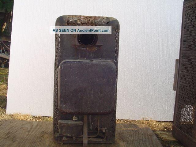 Vintage Duo Therm Oil Burning Stove Heater Furnace Kerosene Antique Local Pickup Stoves Photo 7