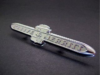 Vintage O ' Keefe & Merritt Gas Stove Parts 1 O ' Keefe & Merritt Chrome Logo Emblem photo