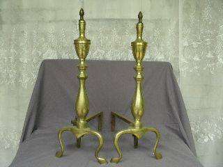 Antique Brass Andirons photo