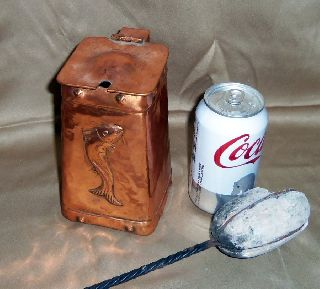 Cape Cod Shop Fire Lighter Solid Copper Embossed Fish Design photo