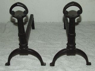 Antique Signed Bradley & Hubbard Cast Iron Victorian Fireplace Andirons B&h 9568 photo