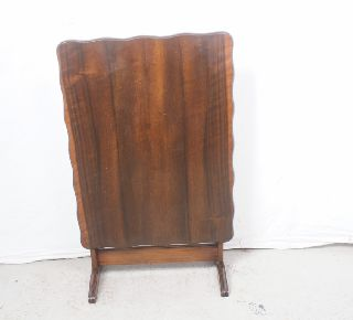 Antique English Fireplace Screen Butler Tea Swivel End Table Oak photo